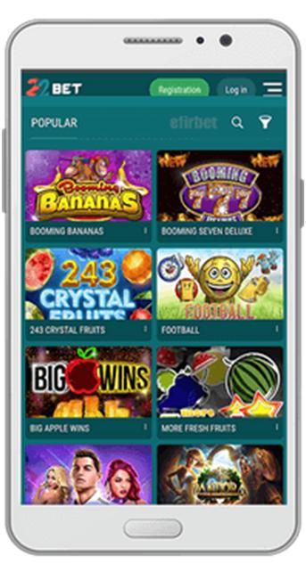 22bet casino mobile