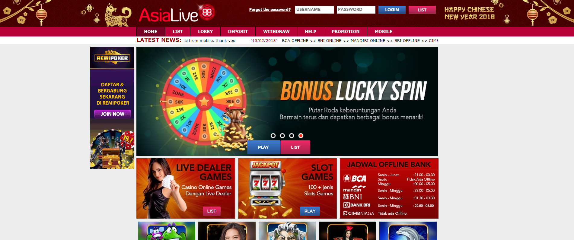 AsiaLive88 Casino Review