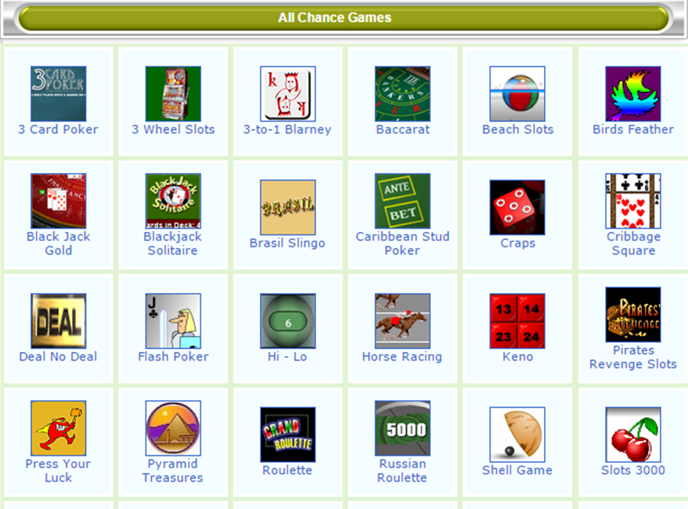 E-games Chance Games