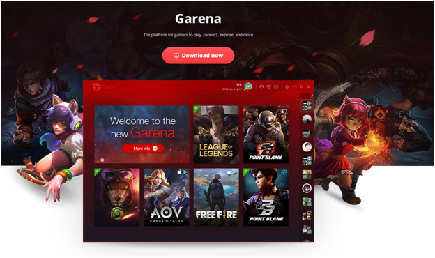How to play games online at Garena?
