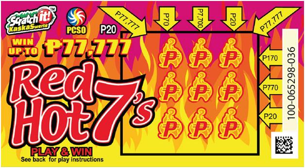 Red Hot 7 Scratch card PH