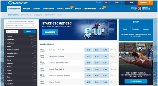 Nordic Bet- Sportsbetting site