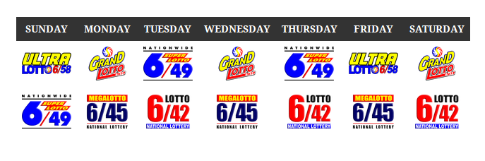 PCSO Lottery Schedule