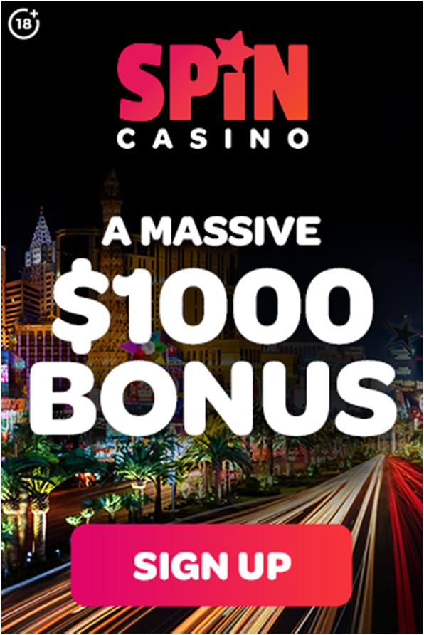 Spin Casino mobile bonus offer