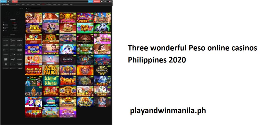Three wonderful Peso online casinos Philippines 2020
