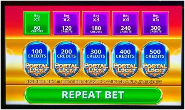 Wu Dragon Slot Machine- Portal lock feature