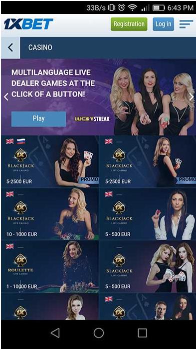Casino at 1XBET